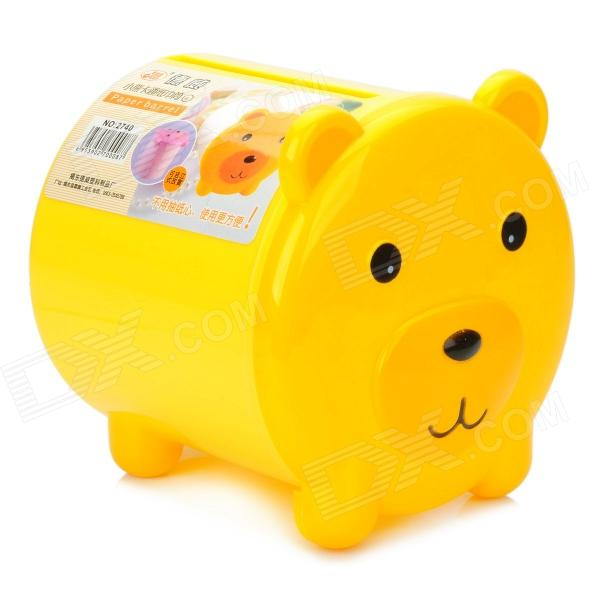 Cute Cartoon Bear Paper Towel Tube - Yellow + Black
