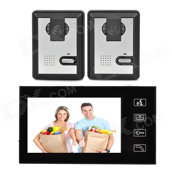 806MA21 1 to 2 420TVL Cameras 7 LCD Color Display Wired Video Door Phone - Black + Silver silverlight next 806 40 7