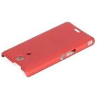 Fashionable Anti-slip Matte Protective ABS Back Case for Sony Xperia ZR / M36h / C5502 - Red