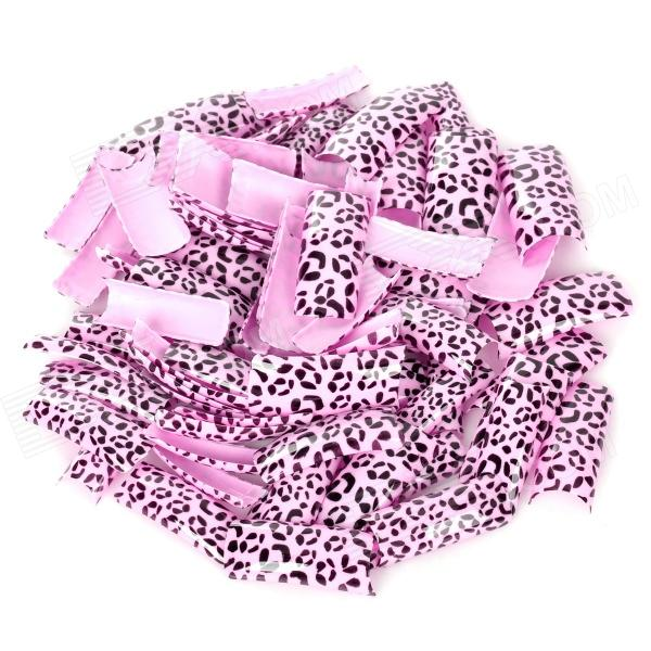 Fashion Leopard Pattern Decorative Plastic Artificial Nail Tips - Pink + Black (100 PCS) high tech and fashion electric product shell plastic mold
