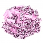 Fashion Leopard Pattern Decorative Plastic Artificial Nail Tips - Pink + Black (100 PCS)