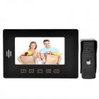 "808ME11 7"" LCD Hands Free Video Door Phone Intercom Security w/ Night Vision Camera - White + Black"