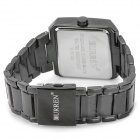 CURREN 8132 Water Resistant Electroplating Tungsten Steel Band Quartz Wrist Watch - Black (1 x 626)