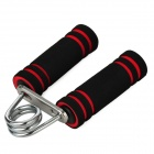 Portable Sponge Handle Hand-Muscle Developer - Black + Red + Silver