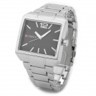 CURREN 8132 Fashion Electroplating Alloy Band Quartz Wrist Watch for Men - Silver + Black (1 x 626)