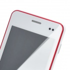 "MP 620 Android 4.0 GSM Bar Phone avec écran capacitif 3.5 "", Quad-Band et Wi-Fi-Blanc + Rouge"