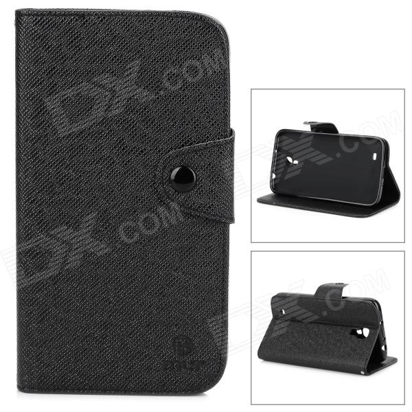 MLT LX9200 Stylish Non-slip Flip-open PU Leather Case w/ Holder for Samsung i9200 - Black