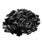 Nail Art Decorative Plastic Artificial Nail Tips - Black (500 PCS)