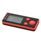 "ELAH SM019 Multi-Functional 1.5"" LCD 3D Digital Calories Step Counter - Red + Black (1 x CR2032)"