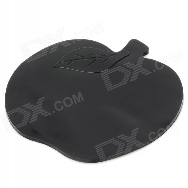 Apple Shaped Non-slip Silicone Cellphone / GPS / MP5 / 4 Mat for Car - Black