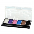 XIBEI 1645 Three-Dimensional 6-in-1 Pearl Powder Makeup Cosmetic Eye Shadow - Multicolored