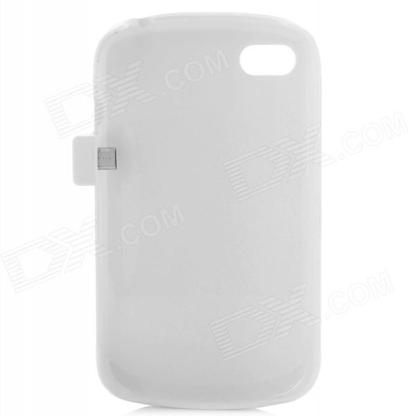 Compact 2800mAh Rechargeable Li-ion Power Back Case for Blackberry Q10 - White