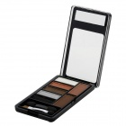 LOVE ATTI AT6801-06 Cosmetic Five-Color Eye Shadow Powder + 2-Color Eyebrow Powder Palette w/ Brush