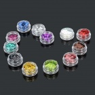 Rhombus Style 12-in-1 Decorative Nail Art Laser Sequins Set - Multicolored