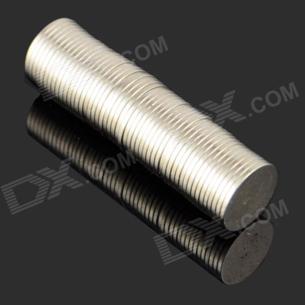 12 x 1mm NdFeB Neodymium Magnet Circular Cylinder DIY Puzzle Set - Silver (50 PCS)Magnets Gadgets<br>ModelNQuantity50MaterialNdFeBPacking List50 x Magnets<br>