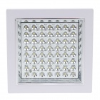 5W 500lm 6500K 56-LED White Light Square Built-in Type Ceiling Lamp - White (AC 180~265V)