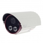 "Paisan PS-766CY 1/3"" CCD 700TVL 60' Wide Angle PAL Surveillance Security Camera w/ 2-IR LED - White"