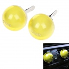 CUE Lemon Scent Air Freshener for Car - Yellow (2 PCS)