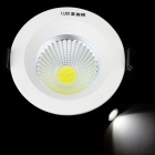 COB-H090 3W 285lm 6400K LED White Light Ceiling Lamp - White + Black (AC 85~245V)
