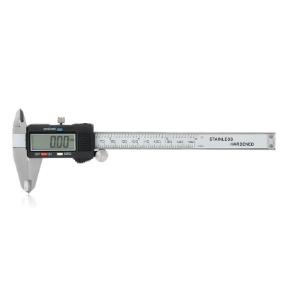 Digital 150mm Caliper - Silver + Black