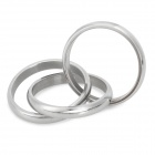 Fashionable Titanium Steel Three Ring - Silver