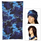 Multifunction Outdoor Sports Bicycle Cycling Seamless Head Scarf - Blue + Purple + Black