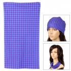 Multifunction Check Pattern Outdoor Sports Bicycle Cycling Seamless Head Scarf - Purple + Red + Blue