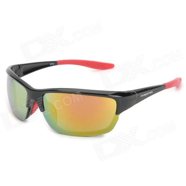 FORESTER 9193 Outdoor Cycling UV400 Protection Sunglasses - Black + Red
