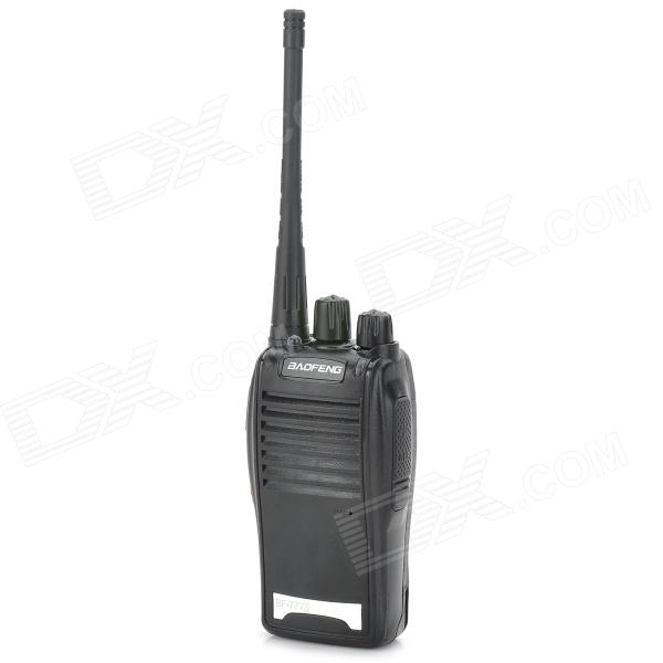 BAOFENG 777S 5W 16CH Handheld Two Way Radio Walkie Talkie w/ Mini Flashlight - Black + Silver