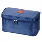 Multifunction Foldable Travel Water Resistant Oxford Bath Products Storage Handbag - Navy