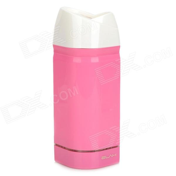 ELAH PC001-4 Portable USB Powered Ultrasonic Air Freshener Humidifier - Deep Pink + White