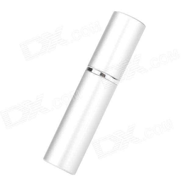 Portable Aluminum Alloy Glass Perfume Spray Bottle - Silver (6 ML)