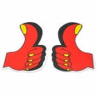 Funny  STOP Thumb Up Style Car Decoration Sticker - Red + Yellow (2 PCS / 14.5 x 8.5cm )