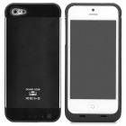 External 3000mAh Power Battery Charger Back Case for iPhone 5 - Black