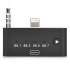 8pin Lightning Male to 30pin Female FM Audio Adapter w/ 3.5mm Plug for iPhone 5 + More - Black