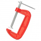 "003 3"" Fine Thread G-Clamp Classic Woodwork Joinery DIY Tool - Red + Silver"