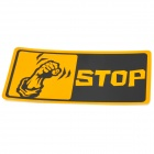STOP Car Reflective Warning Mark Sticker - Yellow + Black
