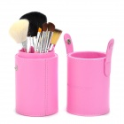 MAKE-UP FOR YOU Professional 7-in-1 Cosmetic Makeup Brushes Set w/ Case - Pink