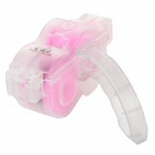 Coolchange Bike Bicycle Chain Wash Tool w/ Brush Kit - Transparent + Pink