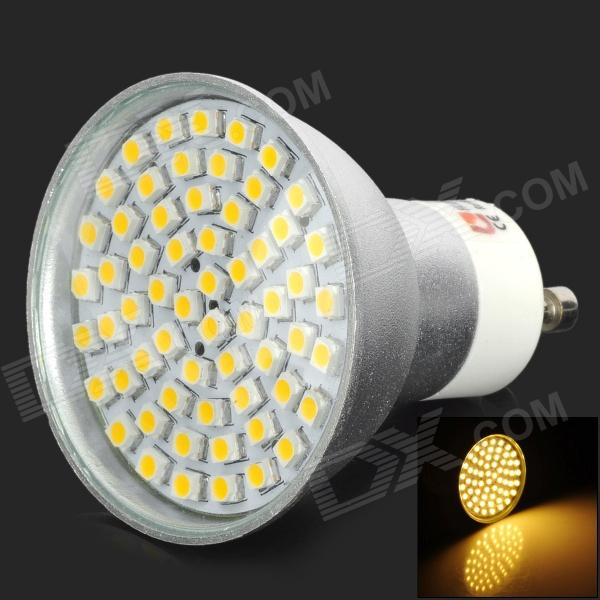 LeXing LX-014-LB GU10 3W 120lm 3300K 60-SMD 3528 LED Warm White Spotlight Bulb w/ Cover - Silver lexing lx r7s 2 5w 410lm 7000k 12 5730 smd white light project lamp beige silver ac 85 265v