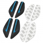 Decorative Car Silicone Crash Barriers Door Guard Protector Sticker - Black + Blue (4 PCS)