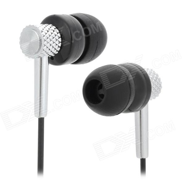 MDR-511 In-Ear Stereo Music Earphone - Black + Silver
