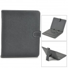 "80-Key QWERTY Micro USB Wired Keyboard with Protective PU Leather Case for 9.7"" Tablet  - Black"