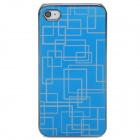 Neomemos Cool Stainless Steel Protective Back Case for Iphone 4S - Blue + Silver