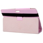"Protective Lichee Pattern PU Leather Case for 7"" Tablet PC - Pink"