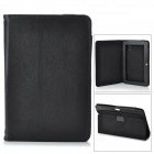 "Protective Lichee Pattern PU Leather Case for 7"" Tablet PC - Black"