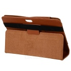 "Protective Lichee Pattern PU Leather Case for 7"" Tablet PC - Brown"
