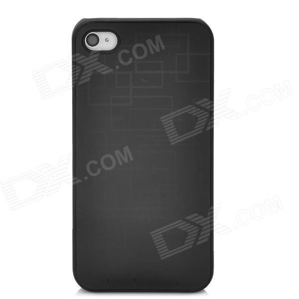 Neomemos Cool Stainless Steel Protective Back Case for Iphone 4S - Black