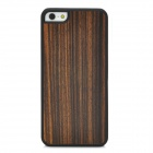 Retro Ebony Protective Wooden Back Case for iPhone 5 - Brownish Black