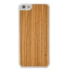 Retro Protective Wooden Back Case for iPhone 5 - Yellow + White